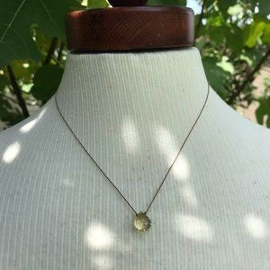 Quartz Necklace on Silk Cording